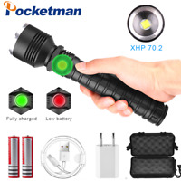 Outdoor LED 20000LM T6 Lamp Flashlight Zoomable Torch 3 Modes Light Waterproof