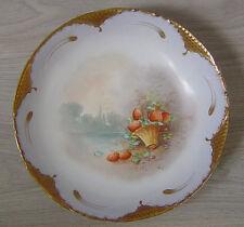 Service à fraise dessert Limoges Delinières1900 Porcelain strawberries service