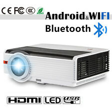 HD LED Heimkino Projektor Android WiFi Bluetooth Film Spiel HDMI USB TV AV 1080p