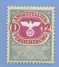 Germany Nazi Third Reich Swastika Eagle Revenue D 12 Stamp MNH WW2 ERA