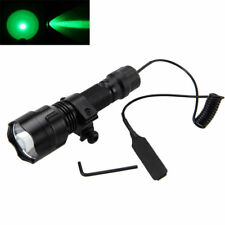 Tactical C8 5000LM Green Light LED Flashlight Torch Hunting Gun/Rifle Mount FF