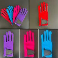 Ladies Equestrian Horse Riding Gloves & Outdoor Sports Neon Colours