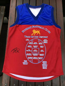 GREAT FITZROY TEAM OF THE CENTURY JUMPER SIGNED BY BERNIE QUINLAN