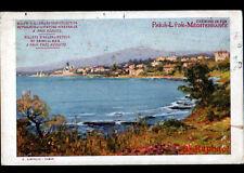CHEMIN de FER PARIS LYON MEDITERRANEE par J. BARREAU Publicité ST RAPHAEL en1909