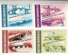 British Honduras 1971. Bridges of the World. Scott# 287-290 MNH