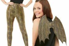 Ladies Dragon Scale Leggings Costume Accessory Reptile Adult Fancy Dress ADD Win