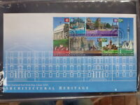 NEW ZEALAND 2002 ARCHITECTURAL HERITAGE BLK 6 STAMPS FDC FIRST DAY COVER