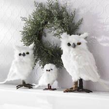 White Feather Snow  Owl Large