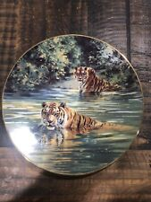 Cool Cats Plate Sovereigns of the Wild #3 Donald Grant Big Cat Swimming Tigers