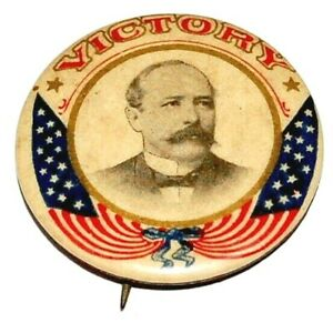 "ALTON PARKER 1.25""  VICTORY campaign pin pinback button political presidential"
