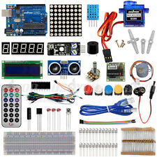 New Ultimate Starter Learning Kit for Arduino UNO R3 LCD 1602 Servo Motor LED