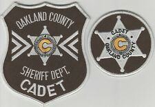 Oakland County, Michigan Sheriffs Dept Cadet patches  MI  2 patch set