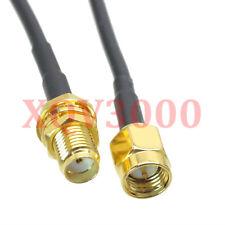 RG174 10FT RF pigtail SMA male plug pin to SMA female bulkhead straight Cable