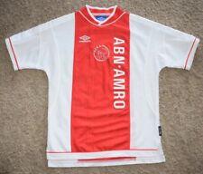 161ee6ce79e Mens Vintage UMBRO 1999-2000 Ajax Amsterdam Home Soccer Jersey SZ M
