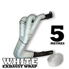 5 M Bianco Calore Avvolgere Nastro Collettore Di Scarico Tubo di scolo ALTE TEMPERATURE BENDAGGIO in fibra