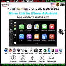 7''2 DIN Car Radio for Apple Carplay GPS Android BT iOS Siri Navi DVR/FM MP5+CAM
