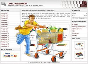PROFI ONLINESHOP SYSTEM - in DEUTSCH, für alle Branchen geeignet!