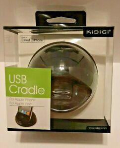 Apple iPhone 3 4 iPod iPad 1 and 2 KiDiGi Universal USB Desktop Cradle (Black)