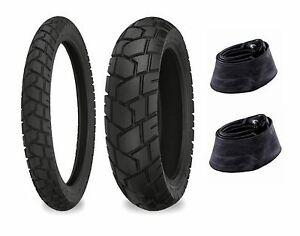 Shinko 90/90-21 & 130/90-17 705 Tires & Tubes Set BMW F650GS Dakar/R100GS Dakar