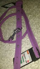 Karlie 35 cm small Dog pup Collar and matching Lead set Buffalo Art Deco purple