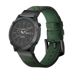 Watch Band for Garmin Fenix 6 6X 5X Plus HR Quick Fit Dots Genuine Leather Strap
