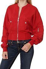 Unifarbene Damen-Sweatshirts mit Reißverschluss