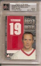 06-07 Steve Yzerman ITG In The Game Ultimate Memorabilia Raised to Rafters /25