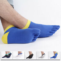 5 Pairs Breathe Men's Cotton Sports Toe Socks Nano-antibiotic five fingers Socks