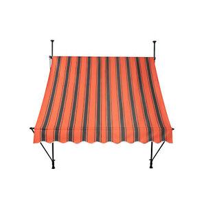 Markise Balkon Klemmmarkise Sonnenschutz 295 x 120 cm Orange ohne Bohren B-Ware