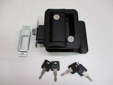 Rv Camper Trailer Black Entry Door Handle Latch Keyed Lock w/ Deadbolt / 4 Keys