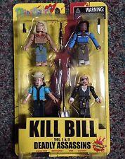 Kill Bill Volume 1 & 2 Deadly Assassins Mini Mates Boxed Set Diamond Select  MIP