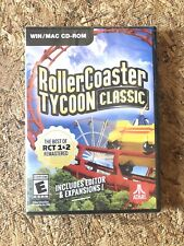 ROLLERCOASTER TYCOON CLASSIC ~For PC- WIN/MAC CD-ROM ☆Brand New!☆Free Shipping!☆