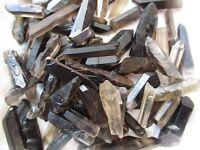 1/2LB black Quartz Crystal Points Terminated Wand Specimen