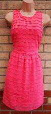 G21 Rosa Rayas de Crochet con Encaje Skater Flippy una línea Flippy Té Raro Vestido 10 S