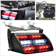 Red White 18 LED Car Dash Windshield Emergency Beacon Strobe Flashing Light 12V