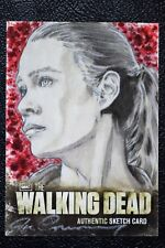 Walking Dead Season 2 Andrea Sketch Art by Joe Corroney Trading Card Cryptozoic