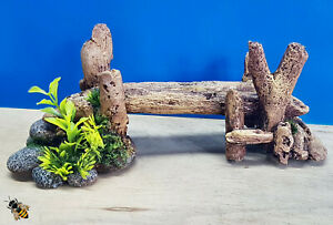 Aquarium Ornament Bamboo Bridge Log Plants London Fish Tank Decoration Bowl
