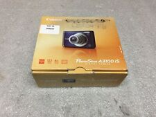 Canon PowerShot A3100 IS 12.1 MP 4X Zoom Blue Digital Camera In Box - Excellent!