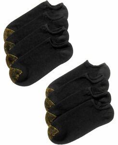 $82 Gold Toe Men's 8-Pair Pack NO-Show Liner Ankle Socks Black Cotton Shoe 6-12