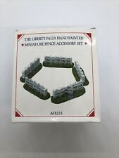 The Liberty Falls Fence Accessory Set Pewter Collection 2000 Mini Village Ah225