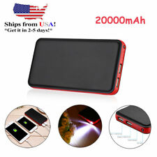 20000mAh Portable External Battery Power Bank For iPhone Andriod Samsung S8 Note
