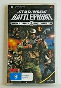 STAR WARS BATTLEFRONT RENEGADE SQUADRON PSP Playstation Portable with booklet