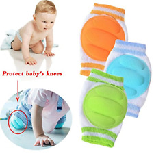 3 Pairs Baby Knee Pads for Crawling - Adjustable Breathable Waterproof Safety A