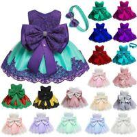 Baby Tutu Princess Kid Flower Dress Dresses Wedding Formal Bridesmaid Party Girl