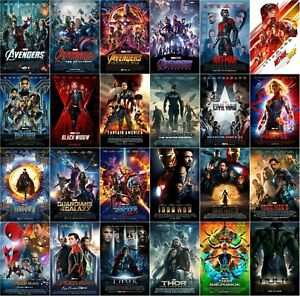 Marvel Cinematic Universe MCU Avengers Movie Poster Collection   NEW   USA
