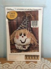 Gaylord Scarecrow & Lady Bug Friends Halloween Scarecrow Greater Craft Pattern