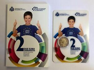 SAINT MARIN 2€ 2012 BU Coincard 10 ans de l'euro euros commémorative