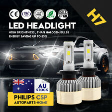 Pair H7 LED 80W CREE 8000LM Replace Xenon White Headlight Lamp Driving Kit 6500K