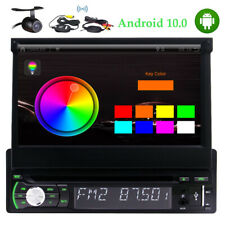 Android 10.0 1 Din Car DVD Stereo 7 Inch Headunit GPS with free wireless camera