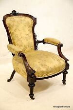 19th Century Framed Spoon Back Elbow Chair FREE Nationwide Delivery